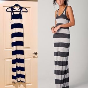 Soft Joie Maxi Dress - Black and white striped